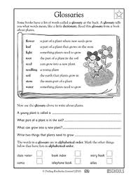 1st grade 2nd grade 3rd grade reading worksheets glossary