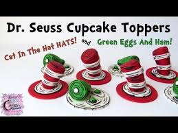dr seuss cupcakes dr seuss cupcake toppers cat in the hat green eggs and ham how