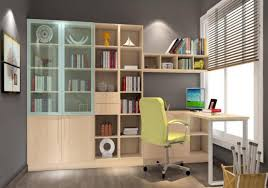 interior design for study room gray wall 3d house