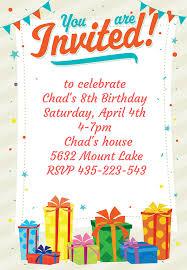 birthday invitation templates free printable 28 images free