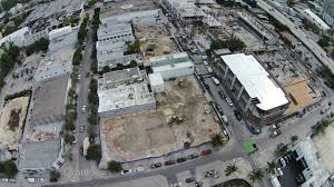 aerial photographs of design district construction