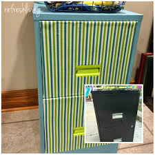 How To Paint A Metal File Cabinet Updating A Metal Filing Cabinet Refresh Living