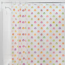 shower curtains and rings owls shower curtain