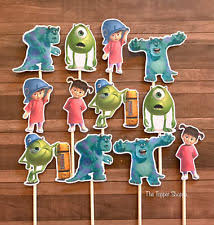 monsters inc cake toppers monsters inc cupcake decorations ebay