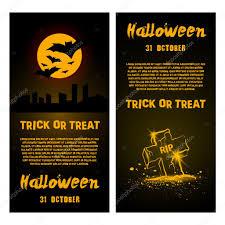 modelo de panfleto de festa halloween vetor definido de convites