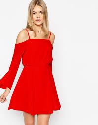 cold shoulder dress asos asos cold shoulder dress with detail