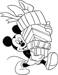 mickey mouse new years coloring pages mickey birthday coloring pages mickey mouse carrying the box