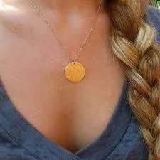 disc pendant necklace monogram disc pendant necklace i jewelry