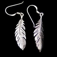 feather earrings nz curved feather earrings nz silver surfers