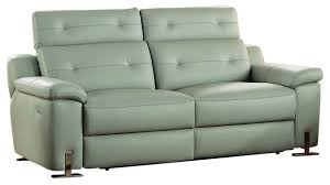 Double Reclining Sofa by Homelegance Vortex Power Double Reclining Sofa In Light Gray