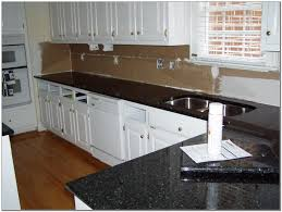 White Kitchen Cabinets With Black Countertops White Kitchen Cabinets Black Granite Countertops Kitchen Home