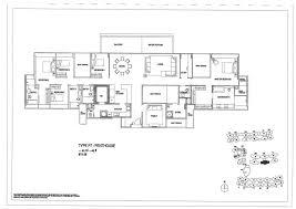 Singapore Floor Plan Penthouse 5 Bed The Minton