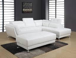 global furniture bonded leather sofa u8859 sectional sofa in white bonded leather by global w options