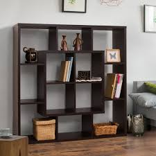 Living Room Divider Furniture Furniture Of America Aydan Modern Square Walnut Bookshelf Room