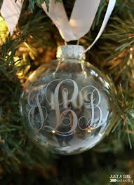monogrammed ornaments just a and