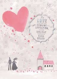 Card From Bride To Groom On Wedding Day Church U0026 Hearts Wedding Card Karenza Paperie