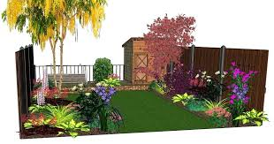 Rear Garden Ideas Garden Border Planting Ideas Design Visuals For A Rear Garden