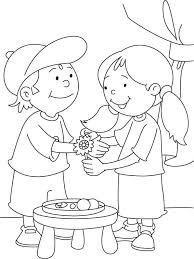raksha bandhan coloring sheet download free raksha bandhan
