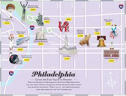 Ohio Pennsylvania Map by Philadelphia Tourist Attractions Map