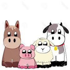 best hd cute farm animals illustration stock vector cartoon animal cdr