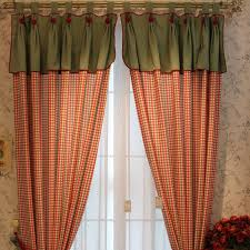 Country Plaid Valances American Country Curtains With Red Plaid Pattern