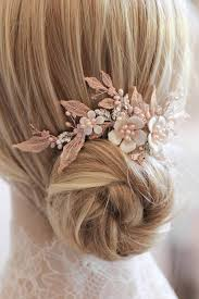 wedding hair combs silver and blush bridal hair comb 3 jpg tania maras bespoke