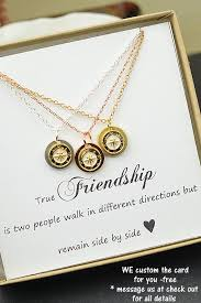gold friend necklace images Best friend giftrose gold compass by dianadpersonalized on etsy jpg