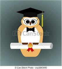 graduation owl graduation owl vector vector illustration of a graduating