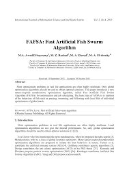 fafsa fast artificial fish swarm algorithm pdf download available