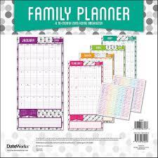 Wall Calendar Organizer Family Planner Wall Calendar Walmart Com