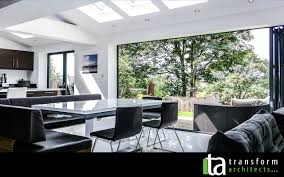 kitchen diners with bi fold doors