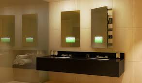 Electric Bathroom Mirrors Seamless Lighted Recessed Medicine Cabinet By Electric Mirror