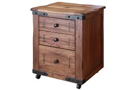 Solid Wood Filing Cabinets by Rustic Solid Wood Writing Desk