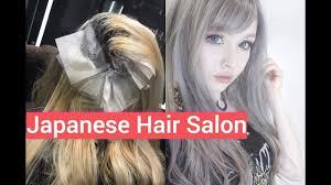 japanese hair salon silver transformation in tokyo first hair