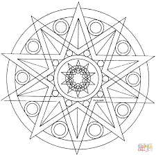 star mandala for coloring page other mandala coloring pages