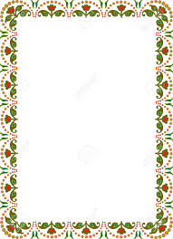 floral ornament border frame colored royalty free cliparts vectors