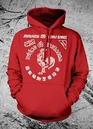 Sriracha Sauce Halloween Costume Sriracha Hoodie Hooded Sweat Shirt