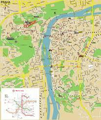 Map Of Czech Republic Prague Praha Tourist Map Prague Czech Republic U2022 Mappery