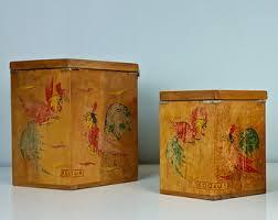 vintage rooster cookie jar etsy