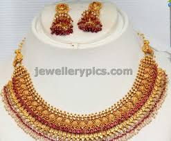 antique gold necklace images 4 antique gold necklace sets by grt latest jewellery designs jpg