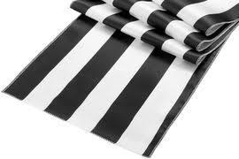 black white striped table runner stripe satin table runner black white at cv linens cv linens