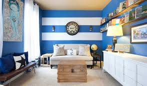 Beauteous  Blue Wall Living Room Design Inspiration Design Of - Living room design blue