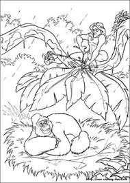 tarzan ride tantor eelephant tarzan coloring pages