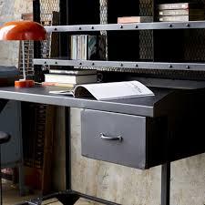 bureau metal noir bureau metal industriel great bureau industriel metal acier et