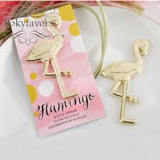 Letter Opener Favors Free Shipping 50pcs Gold Font B Fancy B Font And Feathered Flamingo Bottle Font B Opener Jpg