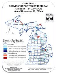 Map Of West Michigan by Emerging Disease Issues 2014 Surveillance Maps
