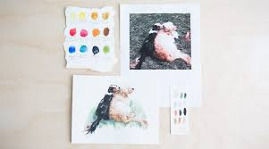 painting watercolor pet portraits by christine aria hostetler