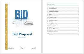 bid proposal template word selimtd