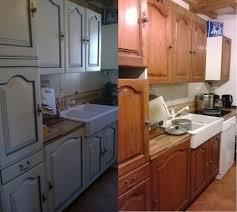 cuisine en chene repeinte meubles peints au coeur de