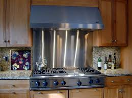 Stainless Steel Backsplash Stunning Modern Kitchens With - Custom stainless steel backsplash